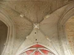 Chapelle Sainte-Barbe et maison du garde - Voûtes de la chapelle Sainte-Barbe du Faouët (56).