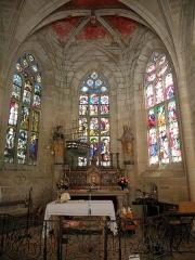 Chapelle Sainte-Barbe et maison du garde - Abside de la chapelle Sainte-Barbe du Faouët (56).