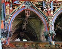 Chapelle Saint-Fiacre - Le Faouët (Bretagne, Morbihan) Chapelle Saint-Fiacre, Jubé détail, annonciation.