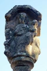Croix du 16e siècle - Français:   Croix de Camfroux: vierge à l\'enfant