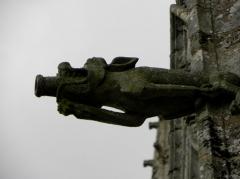 Eglise Notre-Dame-de-Quelven et abords - Gargouille de la basilique Notre-Dame de Quelven, commune de Guern (56).