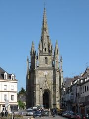 Eglise Notre-Dame-de-Paradis et ses abords - Français:   Basilique Notre Dame de Paradis d\'Hennebont dans le Morbihan