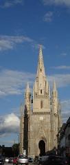Eglise Notre-Dame-de-Paradis et ses abords - Français:   Basilique Notre Dame de Paradis à Hennebont.