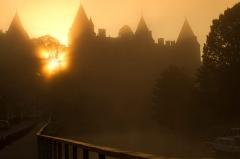 Château - lever du soleil à Josselin chateau
