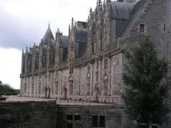 Château - Façade renaissance du château de Josselin