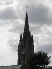 Eglise Notre-Dame-du-Roncier - Français:   Basilique Notre-Dame-du-Roncier à Josselin (56). La flèche.
