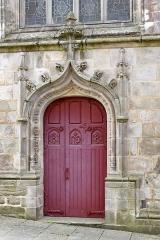 Eglise Notre-Dame-du-Roncier - Entrée de labasilique Notre-Dame-du-Roncier a-Josselin, Morbihan, France