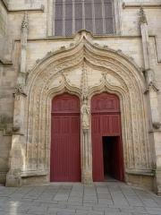 Eglise Notre-Dame-du-Roncier - Français:   Portail de la basilique Notre-Dame-du-Roncier, Josselin, France