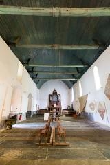 Eglise Sainte-Croix - Français:  Nef de la chapelle Sainte-Croix de Josselin (France).