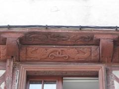Maison datée de 1538 - Français:   Maison inscrite sise 3 rue Georges Le Berd à Josselin (56). Sablières.