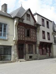 Maison datée de 1538 - Français:   Maison inscrite sise 3 rue Georges Le Berd à Josselin (56).