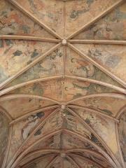 Eglise ou chapelle Notre-Dame - Voûtes du chœur de la chapelle Notre-Dame de Kernascléden (56) vues du maître-autel.