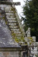 Chapelle Notre-Dame de la Clarté de Locadour - Français:  Escalier dans le rampant nord de la chapelle Notre-Dame-de-la-Clarté à Kervignac (France)