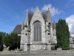 Eglise de la Trinité - Français:   Chevet de l\'église de la Trinité-Langonnet (59).