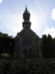 Eglise de la Trinité - Français:   Façade occidentale de l\'église de la Trinité-Langonnet (59).
