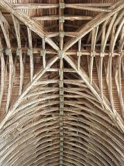Eglise de la Trinité - Français:   Voûtes de la croisée du transept et du croisillon nord de l\'église de La Trinité-Langonnet (56).