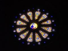 Eglise Saint-Gilles - Église Saint-Gilles de Malestroit (Morbihan, France), rosace de la nef méridionale