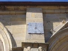 Eglise Saint-Gilles - Église Saint-Gilles de Malestroit (Morbihan, France), cadran solaire sur le flanc sud