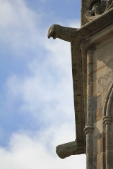 Eglise Notre-Dame-de-Joie - Église Notre-Dame-de-Joie de Merlevenez, France. Clocher: gargouille.