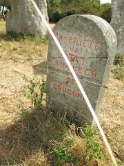 Quadrilatère de Crucuno - Français:   Cromlech de Crucuno situé sur la commune d\'Erdeven