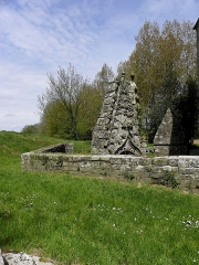 Chapelle de Saint-Nicodème - Fontaines de la chapelle Saint-nicodème en Pluméliau (56).