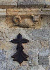 Chapelle de la Trinité - Chapelle de la Trinité (Plumergat): détail Larmier nord, et Hermine