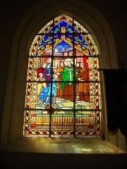 Eglise Saint-Guigner - Église Saint-Guigner de Pluvigner (Morbihan, France). Vitrail: