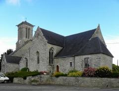 Eglise Saint-Beheau - Français:   Église Saint-Beheau de Priziac (56). Chevet et flanc sud.