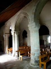 Eglise Saint-Beheau - Français:   Église Saint-Beheau de Priziac (56). Collatéral sud.