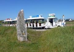 Premier menhir de Mané-Meur - Français:   Menhirs de Mané-Meur la pointe de la Presqu\'île de Quiberon   Morbihan,  France.
