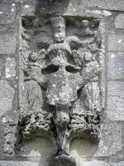 Chapelle de Locmaria - Français:   Chapelle de Locmaria en Quistinic (56). Armes au pignon du croisillon sud.