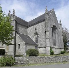 Chapelle de Locmaria - Français:   Chapelle de Locmaria en Quistinic (56). Chevet et croisillon sud.