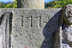 Cimetière - Français:   Croix de cimetière de Saint-Allouestre, Morbihan, France. Date de création de 1774.