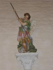 Chapelle Saint-Michel - Chapelle Saint-Michel à Saint-Avé (Morbihan, France): saint Michel terrassant le dragon