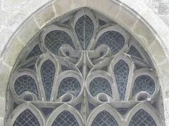 Chapelle Saint-Adrien - Français:   Chapelle Saint-Adrien en Saint-Barthélémy (56). Remplages de la maîtresse-vitre.