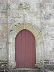 Chapelle Saint-Adrien - Français:   Chapelle Saint-Adrien en Saint-Barthélémy (56). Porte occidentale du croisillon sud.