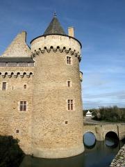 Ruines du château de Suscinio - Chateau de Suscinio, Sarzeau, Morbihan, France.
