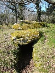 Trois dolmens à galerie de Mané-Kervilor - Français:   Dolmen à couloir n°2 du complexe tumulaire de Mané-Kervilor, dit Mané-Bras. Commune de La Trinité-sur-Mer, Morbihan, Bretagne, France.