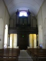 Eglise Saint-Patern - Église Saint-Patern de Vannes (Morbihan, France): nef et orgue