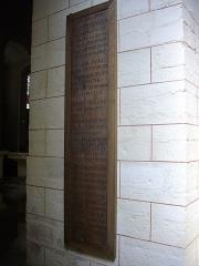 Eglise Saint-Patern - Église Saint-Patern de Vannes (Morbihan, France): plaque