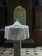 Eglise Saint-Patern - Français:   Église Saint-Patern de Vannes (Morbihan, France): fonts baptismaux