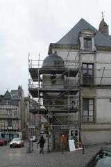 Ancien hôtel de Francheville - Français:   Hôtel de Francheville, Vannes, vue du cabinet sur trompes échafaudé.