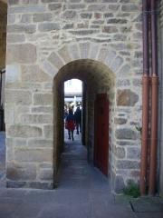 Anciens remparts - Porte Prison, remparts de Vannes (Morbihan, France), côté intra-muros