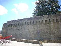 Anciens remparts - Partie romaine des remparts de Vannes (Morbihan, France), côté porte Prison