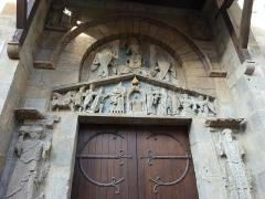 Eglise Notre-Dame-du-Port - English: Basilique Notre-Dame du Port in Clermont-Ferrand. South portail, detail of the tympanum.