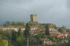 Ruines du château fort - Français:   Château de Montaigut-le-Blanc