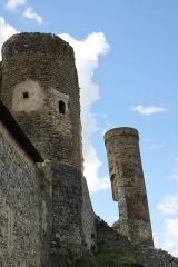 Ensemble des ruines du château fort - Français:   Tours du château de Montmorin