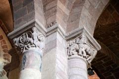 Basilique Saint-Julien - Français:   Chapiteaux de la basilique de Brioude, Haute-Loire, France