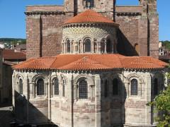 Basilique Saint-Julien - Français:   Brioude, basilique St-Julien, abside