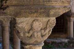 Ancienne abbaye Saint-André-de-Lavaudieu - Chapiteau du cloître de l'abbaye Saint-André de Lavaudieu.